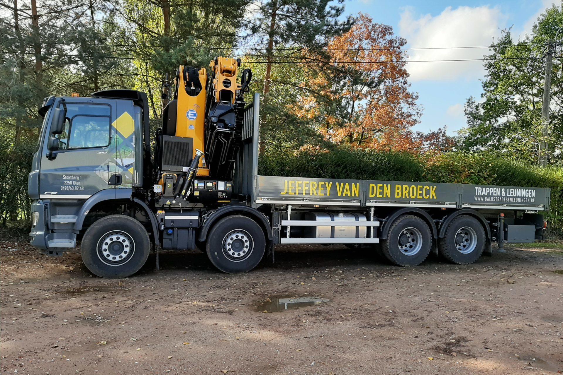 Verhuur kraanwagen - Jeffrey Van den Broeck BVBA